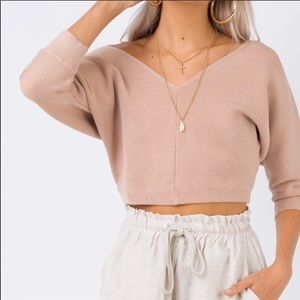 Princess poly love more knit top cropped sweater
